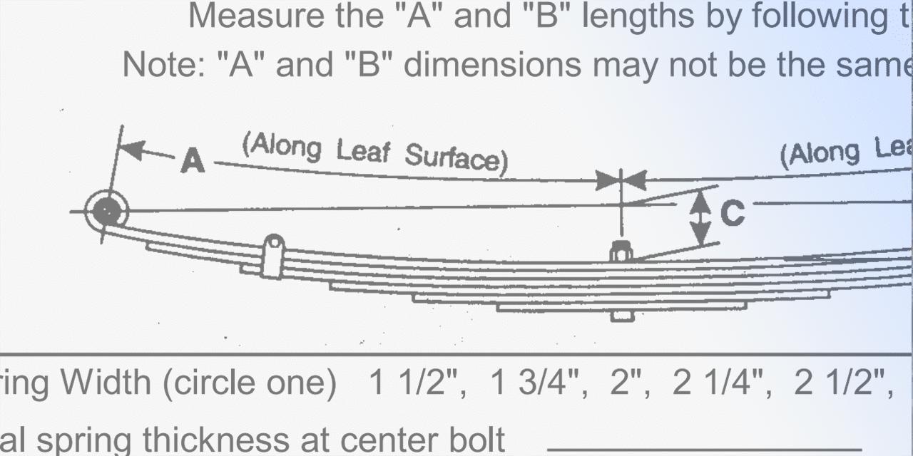How To Measure Leaf Springs Eaton Detroit Spring