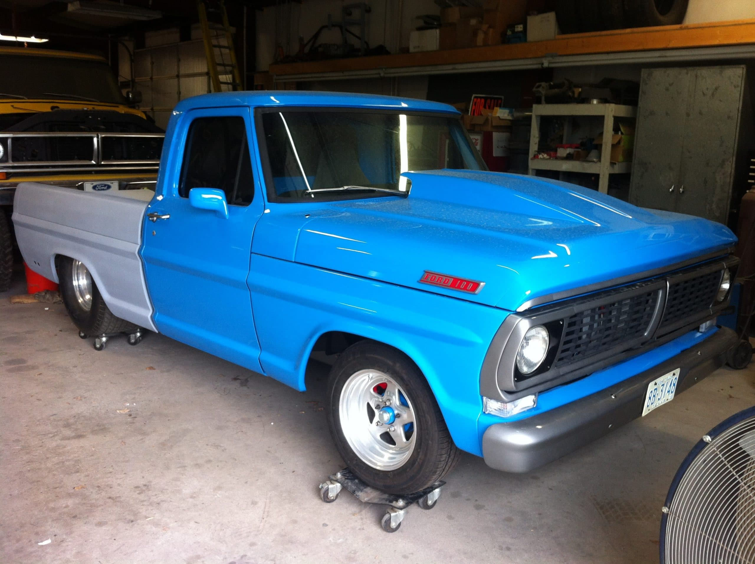 Customer Showcase Eaton Detroit Spring 1955 Ford F100 On 20 Inch Wheels Allens 1970 F 100