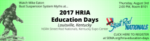 2017 NSRA Education Days